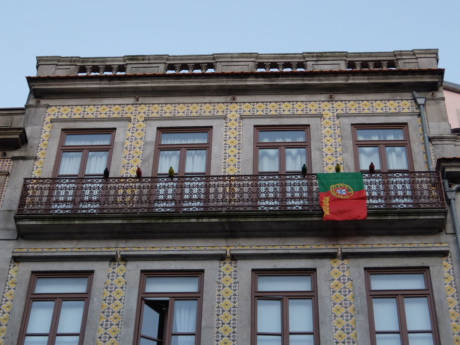 Euro 2016 Flag Green & Red Porto Portugal Windows
