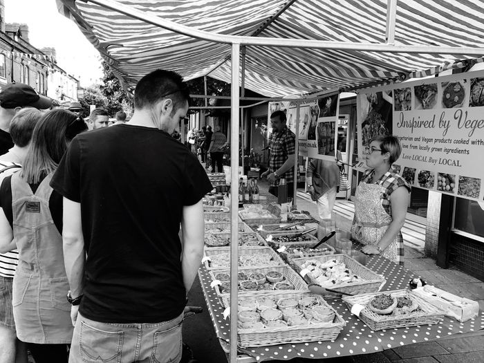 Food Festival Market Stall Retail  Small Business Market Real People For Sale Standing Working
