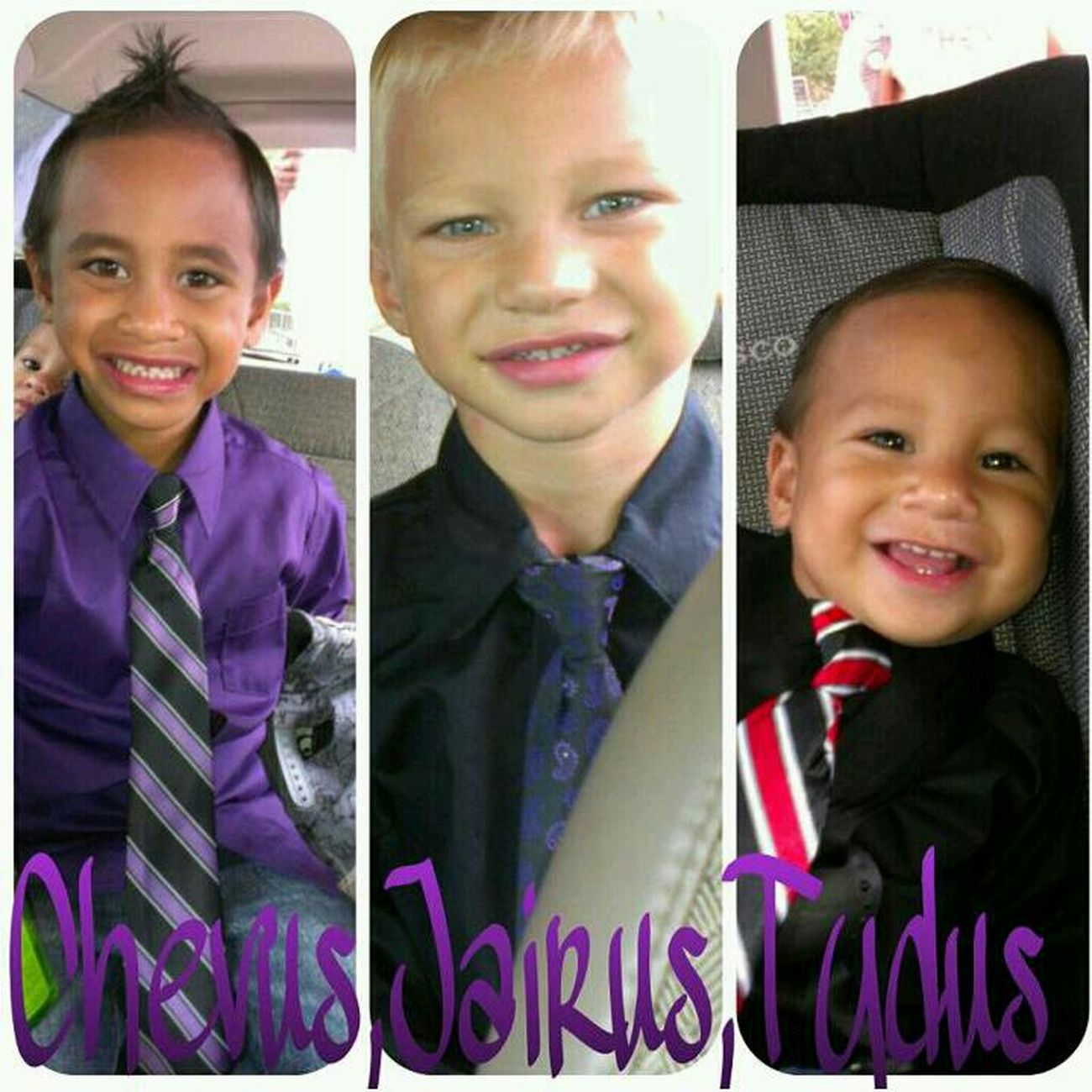 These 3 Boys , I Miss Them<3 #hansomes #cuties #missthem #lovethem #stolethispicture #fromtheirmother #lol