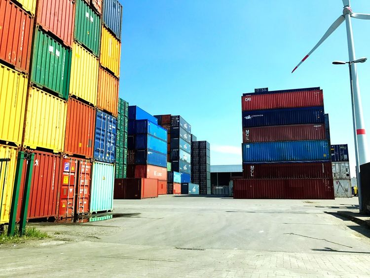 Architecture Cargo Container Freight Transportation Built Structure Container Clear Sky Day Building Exterior Outdoors No People Industry Warehouse Harbor Sky City Shipyard EyeEmNewHere Harbor Stabroek Belgium Colors Artsy EyeEmNewHere The Architect - 2017 EyeEm Awards Neighborhood Map