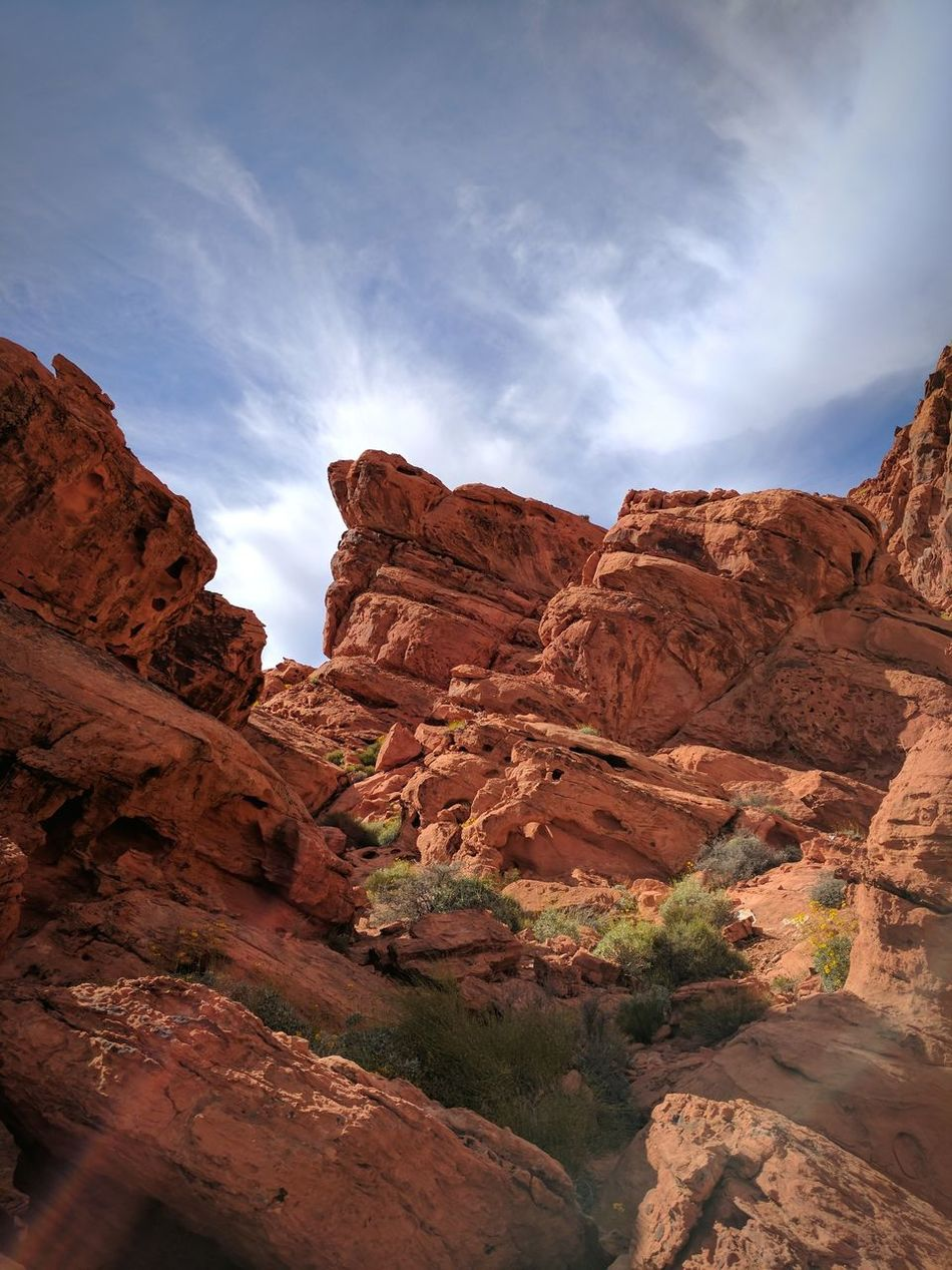 Nature Archival Low Angle View Outdoors Landscape No People Day Sky Beauty In Nature Fineart Red Valley Of Fire State Park Photographer Photography Nevada Mountain Beauty In Nature Nature Sand Light Beautiful Rock - Object Scenics Travel Arid Climate