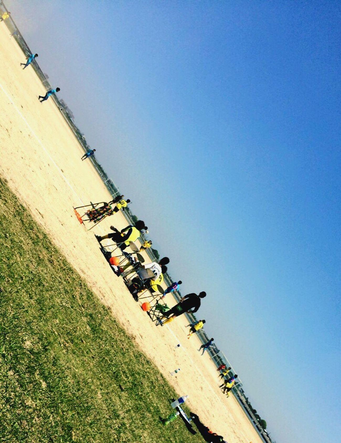 Soccer Blue Sky 青空 いい天気 応援 勝利