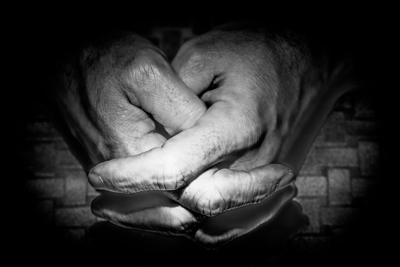 Last one..... Human Hand Human Skin Close-up Aged Pleading Black Background Looking To The Light Black Background Dark Working Man Working Hands Tired Hands Emotional Photography Emotions From Where I Stand Black And White Blackandwhite Photography Blackandwhite From My Point Of View State Of Mind  One Person Real People Praying Rough