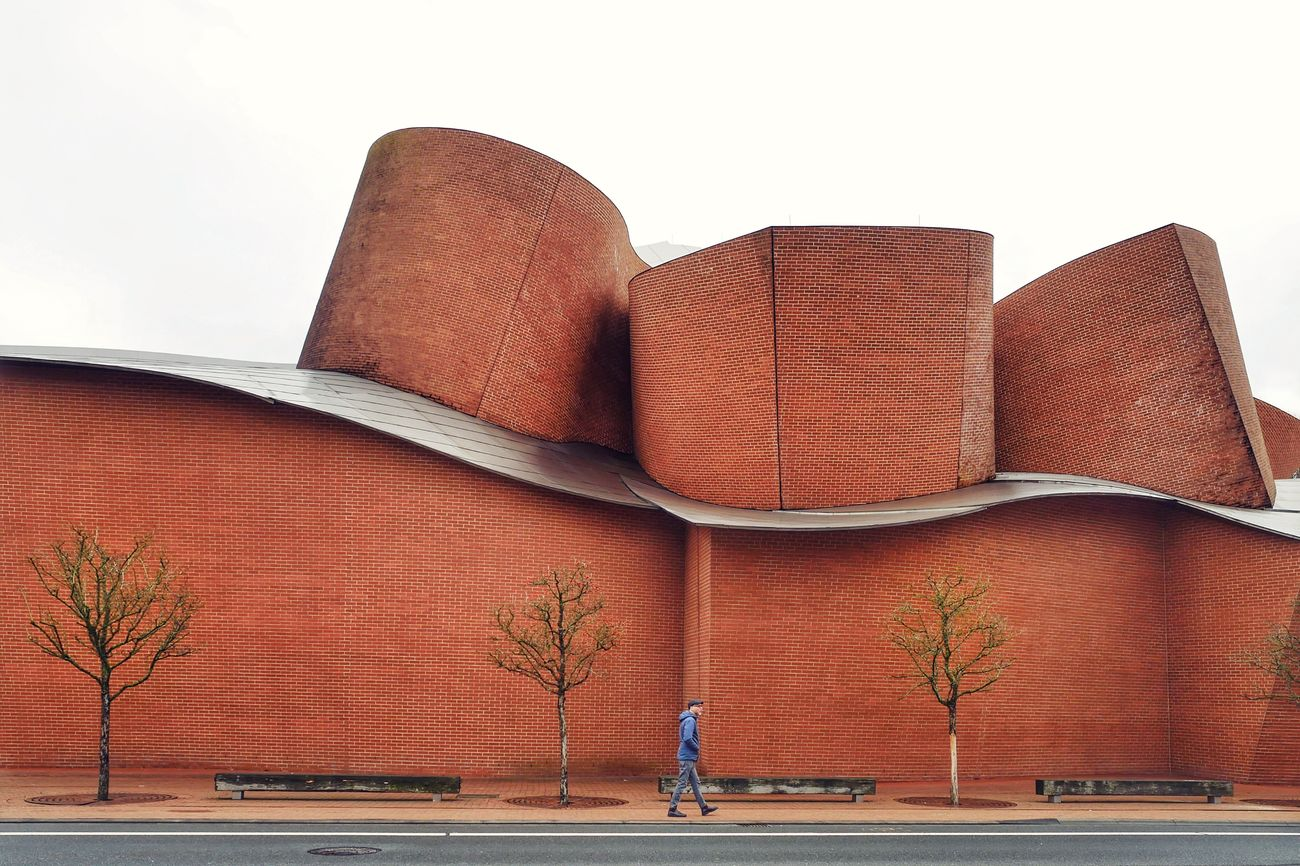 Marta Herford Museum Herford Frank Gehry Frank Gehry Building Architecture Built Structure Building Exterior Outdoors One Person Lieblingsteil Architecture Architecture_collection Brick Brick Building Brick Wall Brickporn Architectural Feature Building Buildings & Sky Miles Away