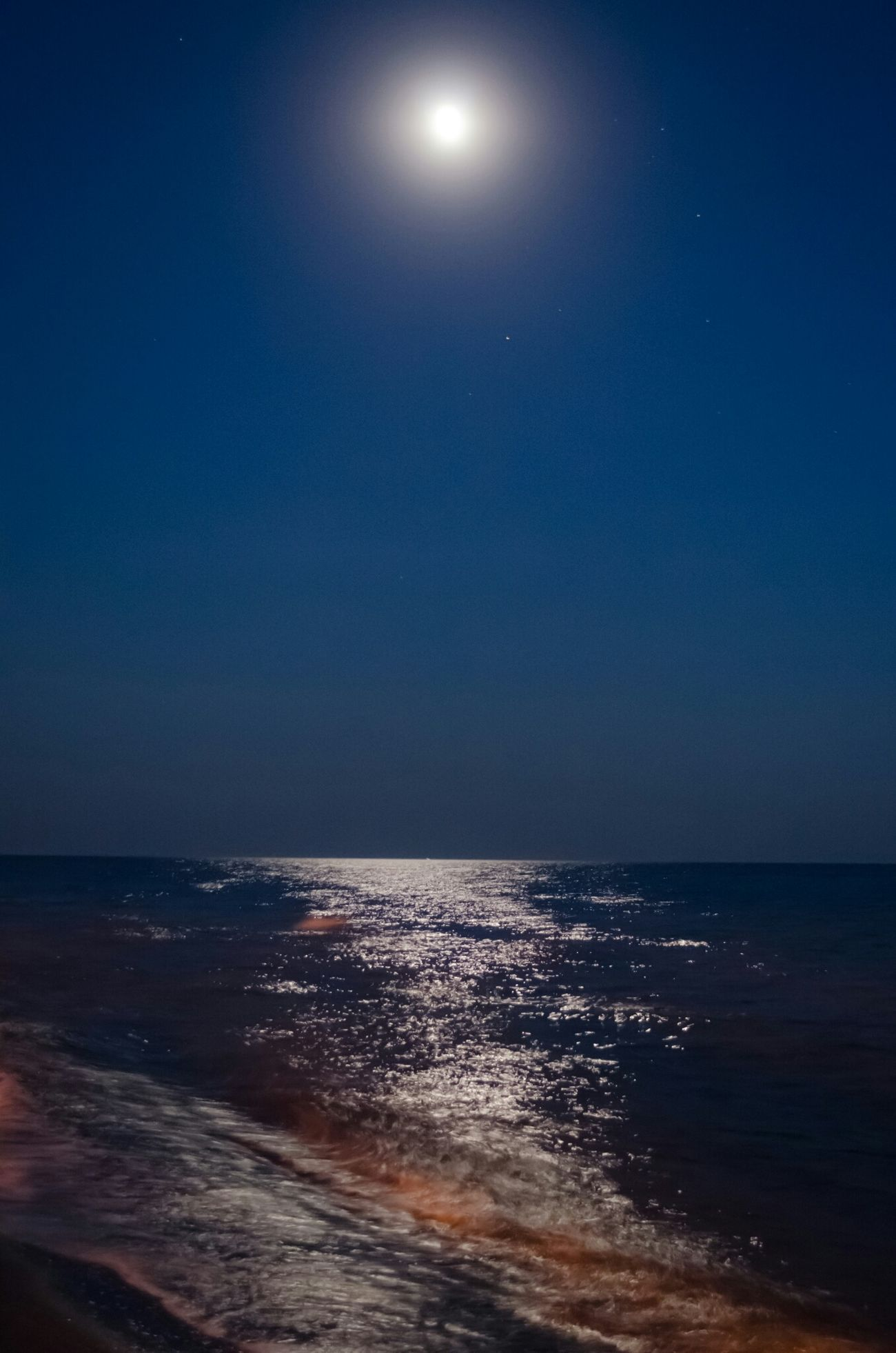 Sea Sky Shtormovoe Beach Moonlight Moon