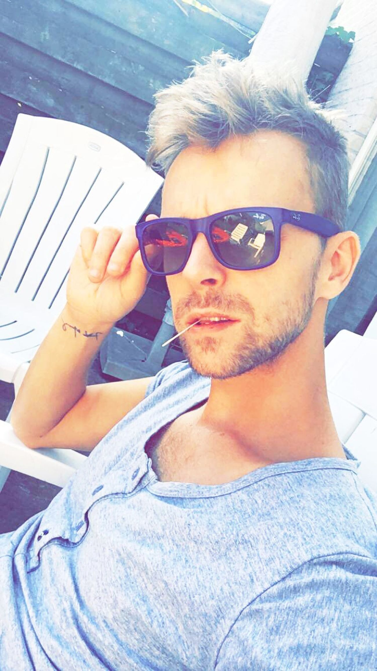My Year My View Guy Me Man Summer Home Relax Relaxing Sunglasses Chilling Handsome Beauty Beautiful Faces Of EyeEm Faces Of Summer Cool Style Lifestyles Young Adult Boy Rayban Happy Holiday Italy Feeling Good
