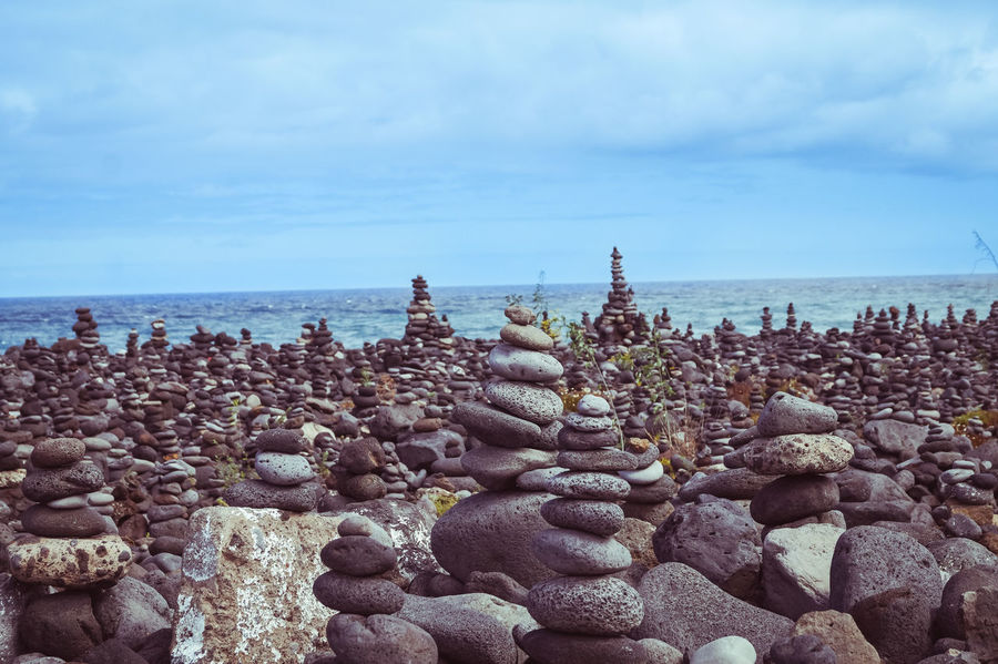 Cloud Clouds And Sky Cloudscape Day Enjoying The View Eye4photography  From My Point Of View Tenerife Horizon Over Water Landscape Nature Nature_collection No People Ocean Ocean View Outdoors SPAIN Stone Stone - Object Stones Traveling Travel Destinations