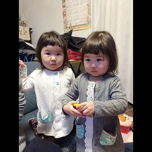 双子 姉妹 Twins Sisters Cute Pretty KAWAII Girls Asian  Asian Girl
