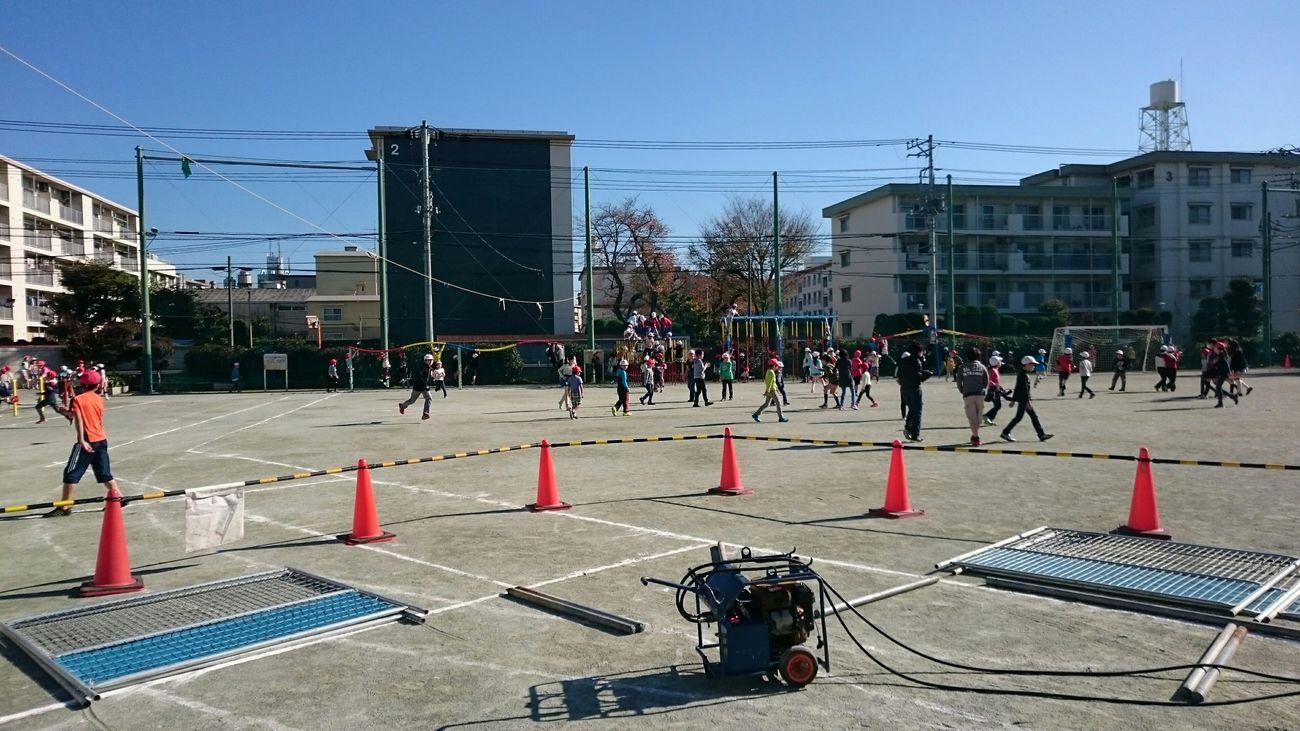 大戸小学校、今日の現場