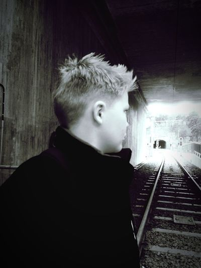 Up Close Street Photography Looking Away Looking Good Subway Station Railroad EyeEm Gallery Waiting For A Train 12 Year Old