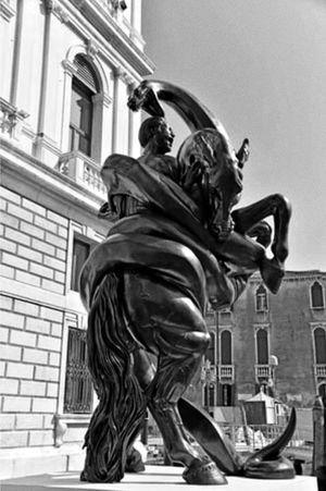 A Damien Hurst Sculpture ....Venice