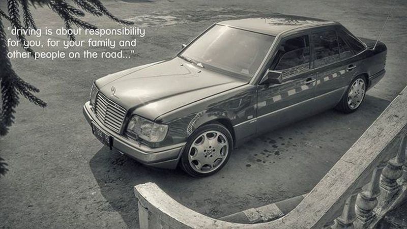 driving is about responsibility, for you, for your family and other people on the road Mercedesbenz W124owner W124 W124bandung W124gram W124fanatic Mercedes Sportline Instacars Own_acc Car Carporn Mbcar Iphonesia Instasunda Insta_kaskus Ic_wheels Instago Photo_storia Fotonesia Ig_indonesia Instagood Monochrome