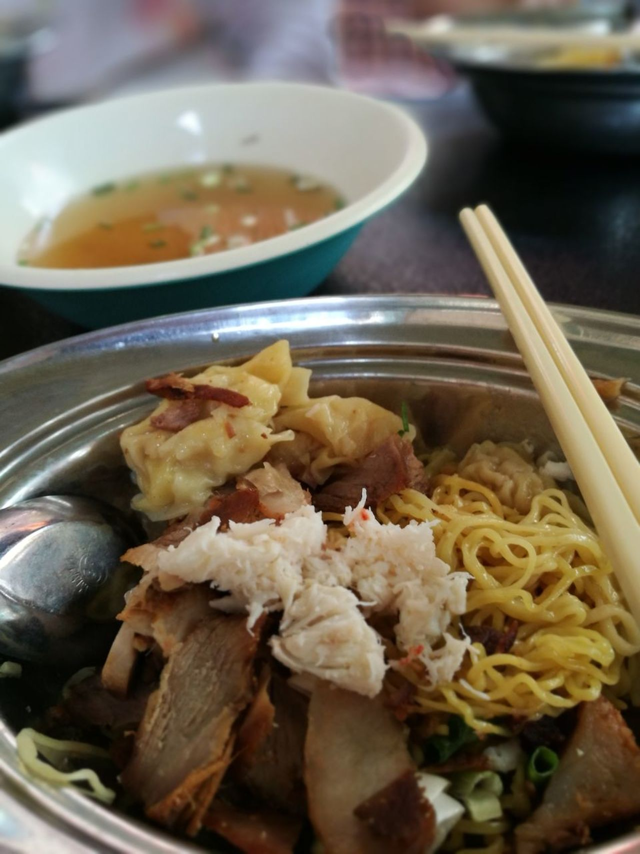 Chinese Food Chopsticks Food Soup Bowl Food And Drink Ready-to-eat Noodles Pork Meal Meat Dumpling  Healthy Eating No People Plate Indoors  Freshness Close-up Day Noodle Noodletime🍝