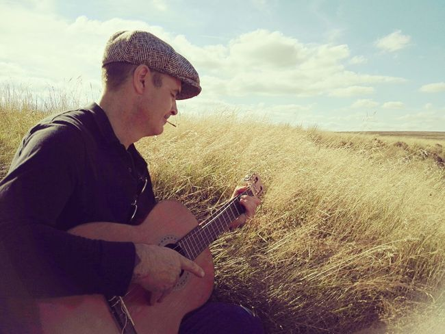 Grass Sky Field Cloud Cloud - Sky Nature Summer Lazysunday Grassy Musicman Summerdays  Longgrass Derbyshire Enjoy Life Guitarman Guitar Relaxation Countryside Outdoors Enjoying Life Tranquility Gorgeousglen Portrait Portaitphotography Peopleandplaces