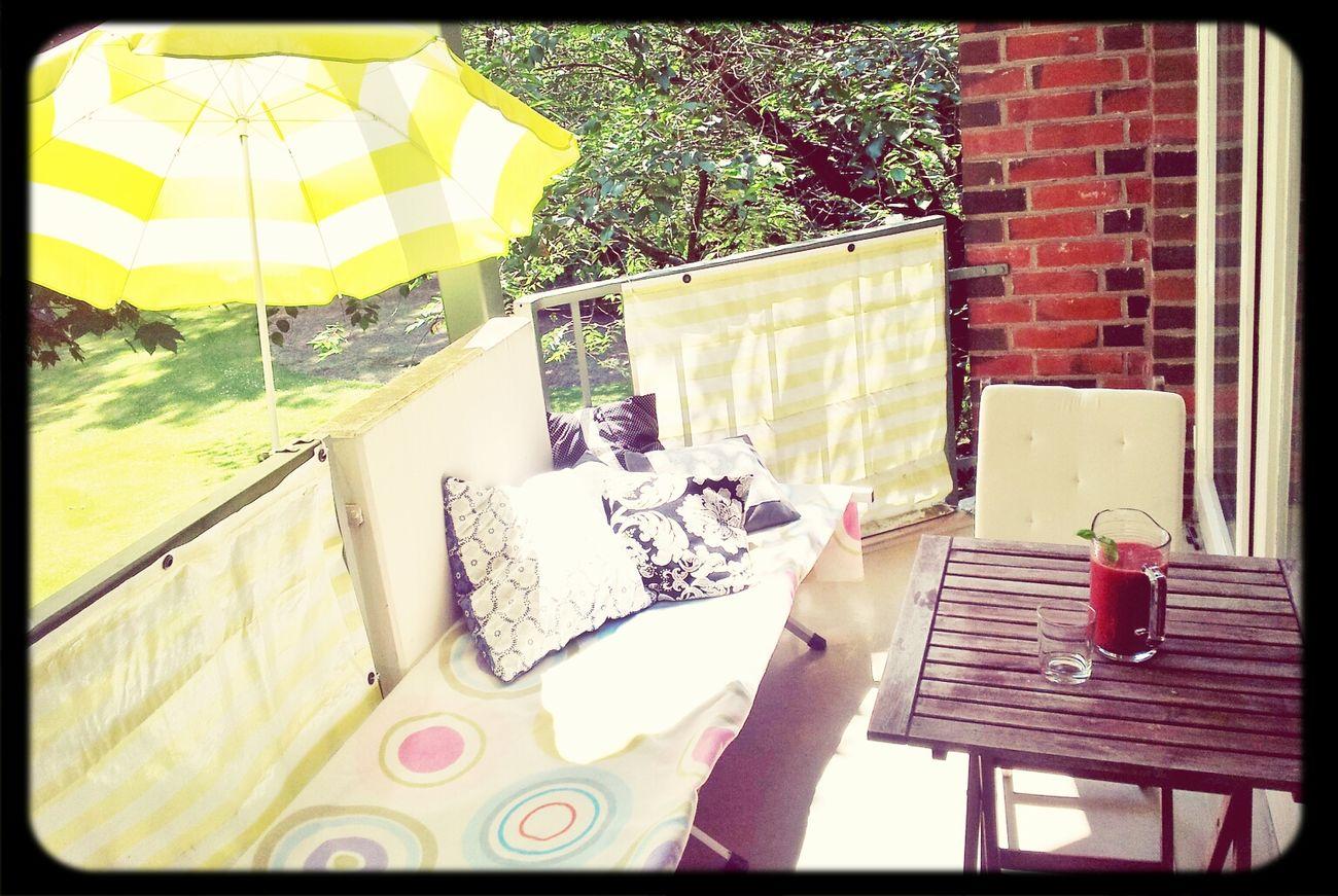 Relaxing On My Balcony