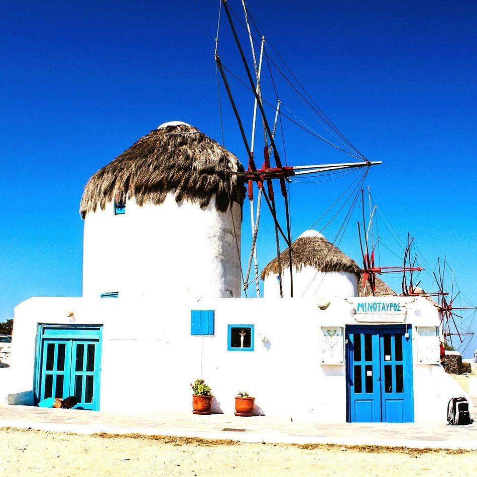 Mikonos Mykonos,Greece Mykonos Sobreexpuesta Windmill Windmills Windmills Photography Windmill Of The Day Blue And White Blue Sky Travel Travel Photography