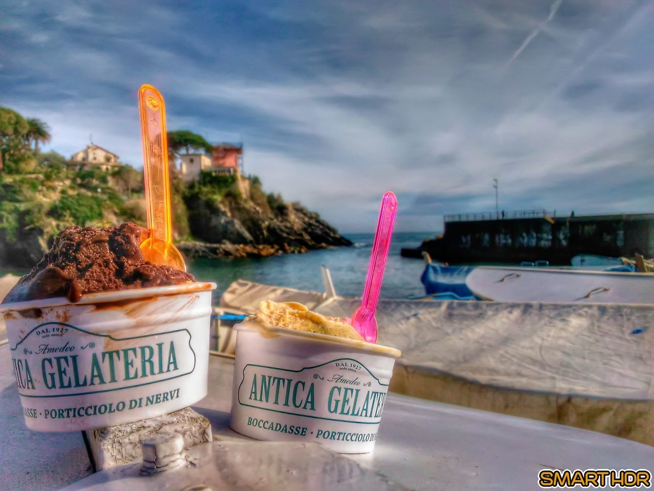 No People Outdoors Sky Food Beach Day Icrecream Gelato Italian Ice Cream Sea View Hdr_Collection Hdrphotography Colors Sweet Food