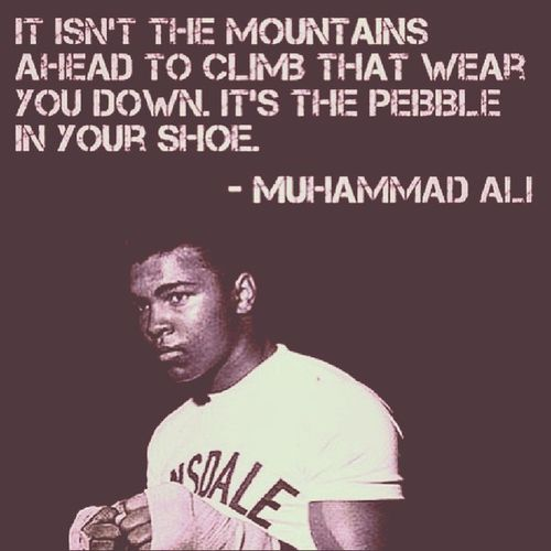 What's your peeble? Dailystruggle Quoteoftheday Famousquote Ali keepmoving