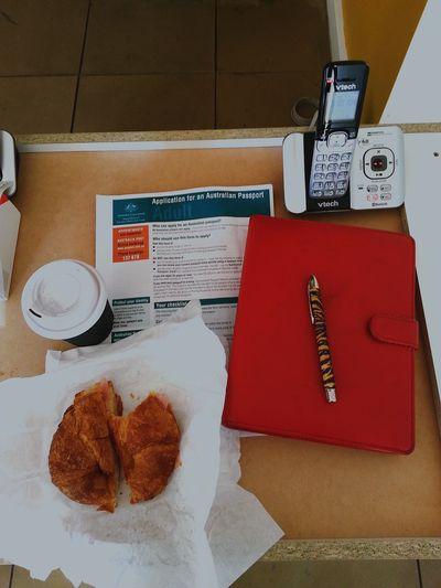 Work Desk , Food Desk , Breakfast desk, Dream desk, planning desk ;) waiting on Delivery , Passport travel, Wanderlust , Organiser, Goodmorning World  ♥