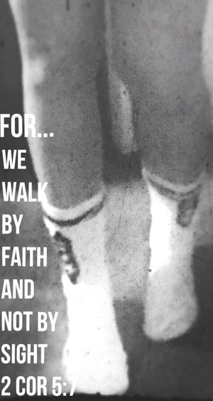Walk By Faith Faith <3 just walk out on faith and you will have no trouble finding your footing on high ground !❤️☺️ Words Of Encouragement That's Me! My Quirky Style Trust In God Knee Socks Army Style Grunge_effect My Husbands Army Socks Strong Legs Goodnight friends 🙋🏼❤️