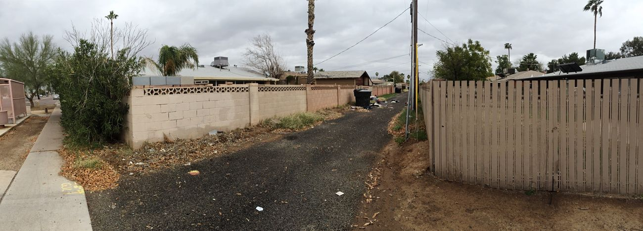 Panaramic Alleyway Phoenix AriZona Everyone Loves It.