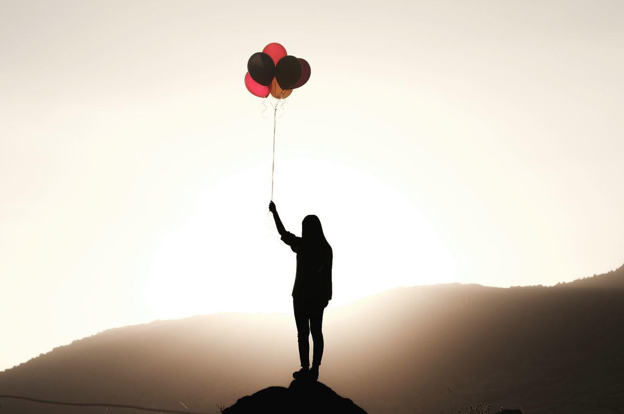 Beautiful stock photos of teenager,  Balloon,  Cliff,  Colorful,  Day