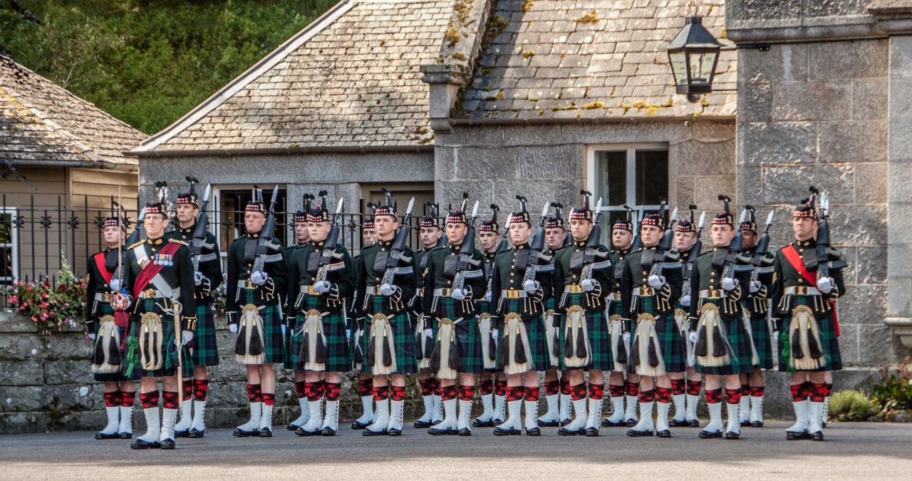 The Royal Guard at Balmoral Castle Balmoral Castle Culture Kilts Soldiers The Royal Guard The Royal Regiment Of Scotland