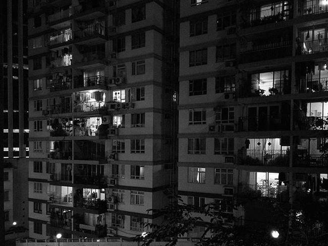 🌃 The Virtue of Privacy Wanchai Night Light Buildings Hkig Instameethk Oneplusone Discoverhongkong EyeEm Art Photography Cities At Night
