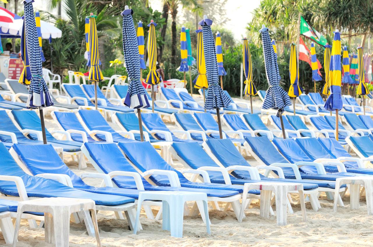 Beautiful stock photos of thailand, Arrangement, Beach, Chair, Closed