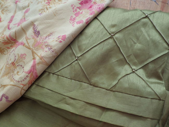 Close-up Clothing Colour. Craft. Design Fabric Fashion. Interior Fashion. Material No People Pattern Pattern Pieces Pink Sage Green Sewing Textile