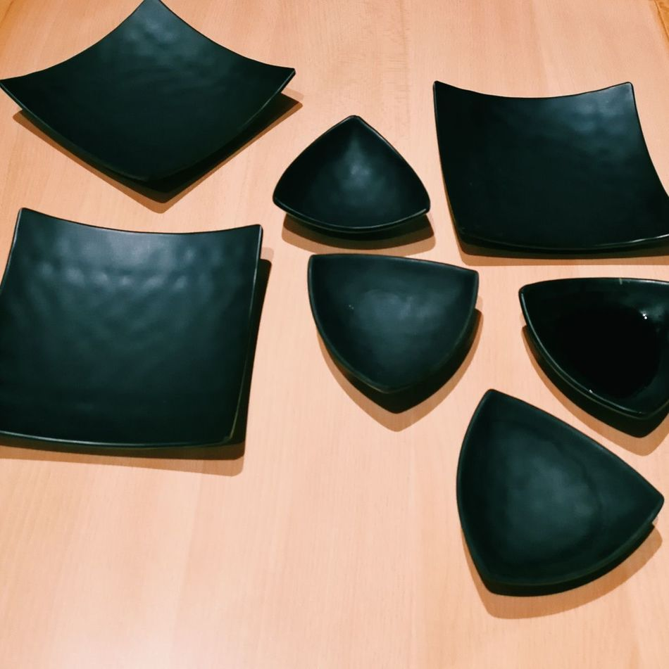 Tableware Welcome To Black Table Plate Japanese  Shapes Triangle Square Break The Mold