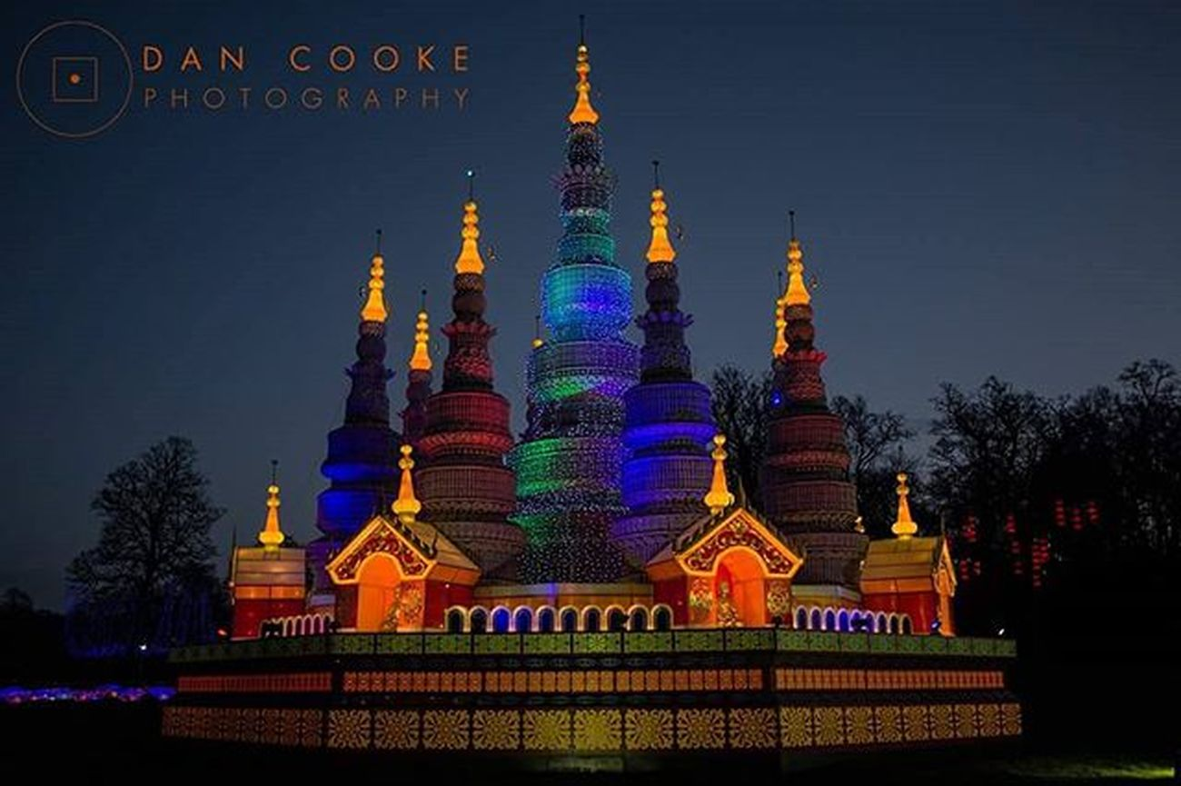 Temple of Light Longleatsafaripark Festivaloflight Chinese Lantern Temple @longleatofficial