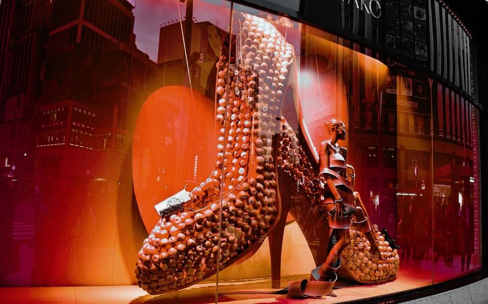 Fine Art Photography Showcase July Window Shopping Red Only