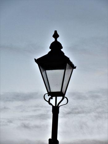 The lamp Cloud - Sky Lamp Lighting Equipment No People Outdoors Silhouette Sky Street Light