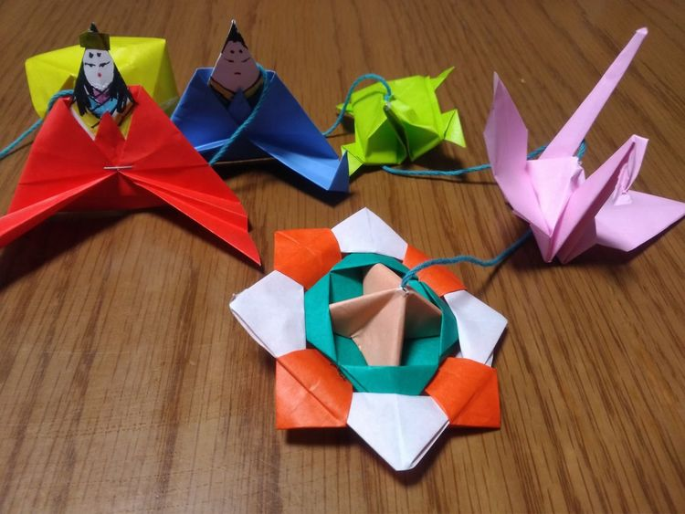 Multi Colored High Angle View No People Indoors  Zenfone3 Android Japan 群馬県 高崎市 Origami Origami Birds おりがみ ひなまつり
