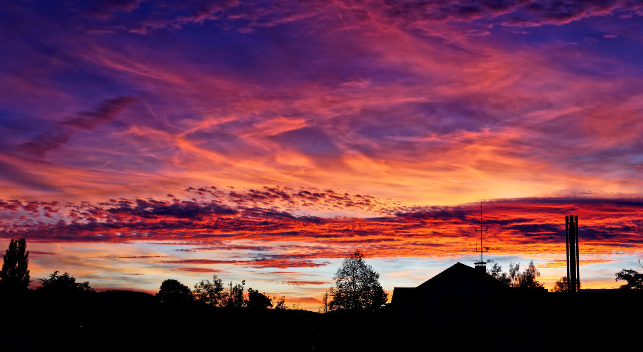 Beauty In Nature Cloud - Sky Dramatic Sky Nature No People Orange Color Outdoors Scenics Silhouette Sky Sunset Tranquil Scene Tranquility Tree