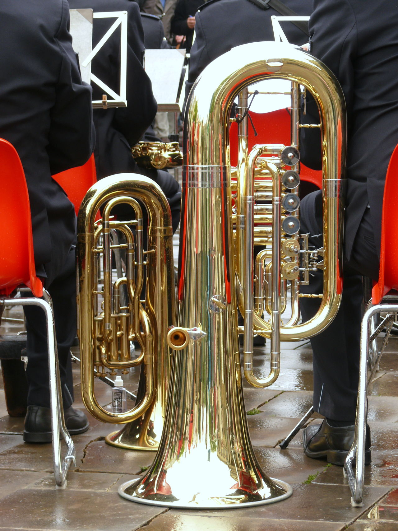 Arts Culture And Entertainment Blaskapelle Blechblasinstrument Day Kapelle Low Section Musical Instrument Outdoors People Performance Tuba