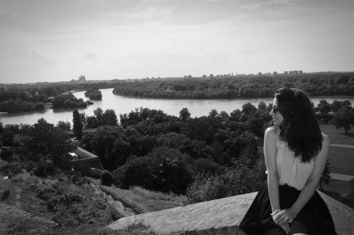 Young Adult One Person Young Women One Woman Only Only Women Women Sky Day Water Kalemegdan  Kalemegdanfortress Belgrade Belgrade,Serbia Belgradephoto Belgradefortress Beauty Photo Photography Blackandwhite Blackandwhite Photography