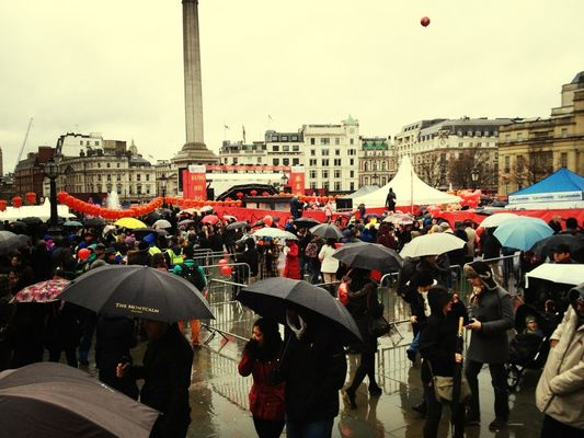 at trafalgar square by Ravi Chand