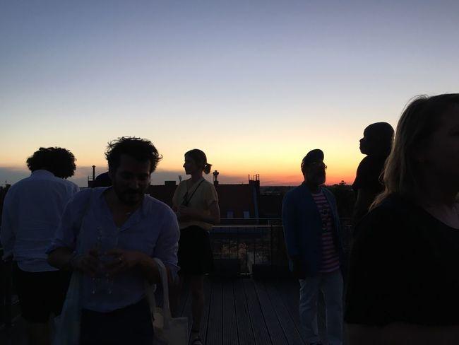 Rooftop Skyline Berlin People
