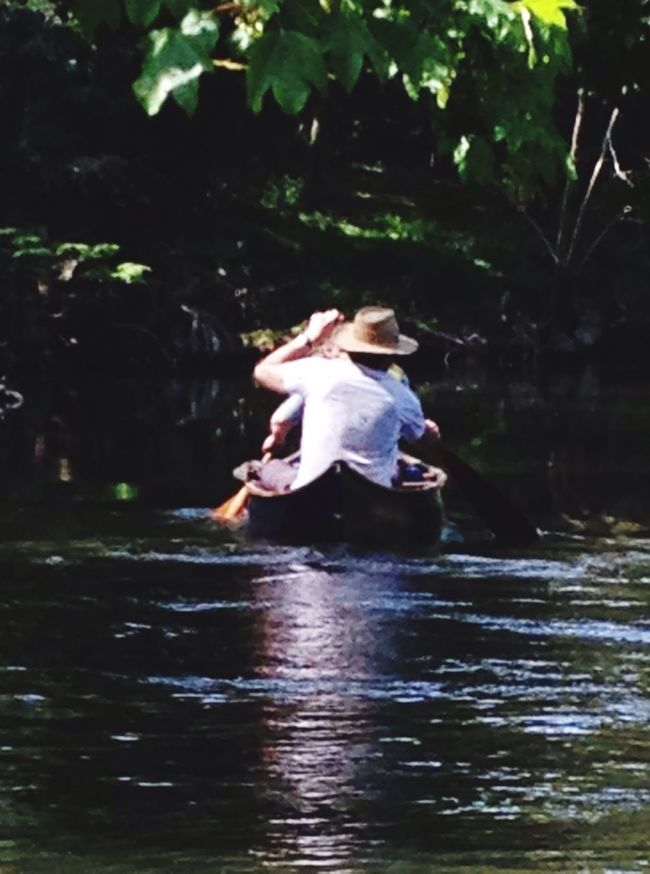 Canoeing on the river Stour, Essex Enjoying Life Flowing Water Song Of The Paddle Leisure Activity Nature_collection Relaxing Water Green Paddling Sunlight Tranquility Outdoors Reflection Taking Photos Hello World Check This Out Paddles River Hello World
