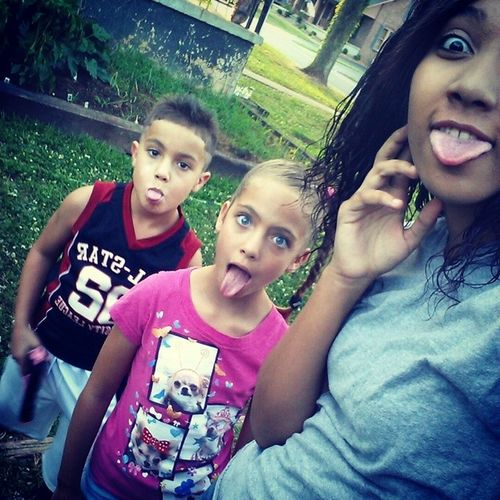 Went to the fair with these goofballs??Brother Nickolas Sister Nichole Twins Fair FunDay LoveThem Cuties