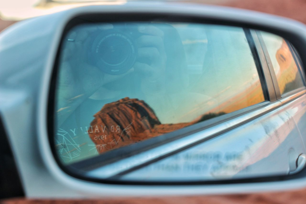 The Drive Car Transportation Mode Of Transport Side-view Mirror Vehicle Mirror Outdoors USAtrip Seaside Bestoftheday Travel Destinations Monument Valley Eyeemoninstagram Arizona Landscape Arizonasky AriZona♡ Travel Photography EyeEm Best Shots
