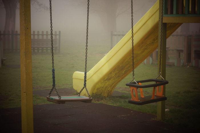 Parco Altalena Colori Alessandria Cittadella Bambini  Foggy Morning Foggy Day
