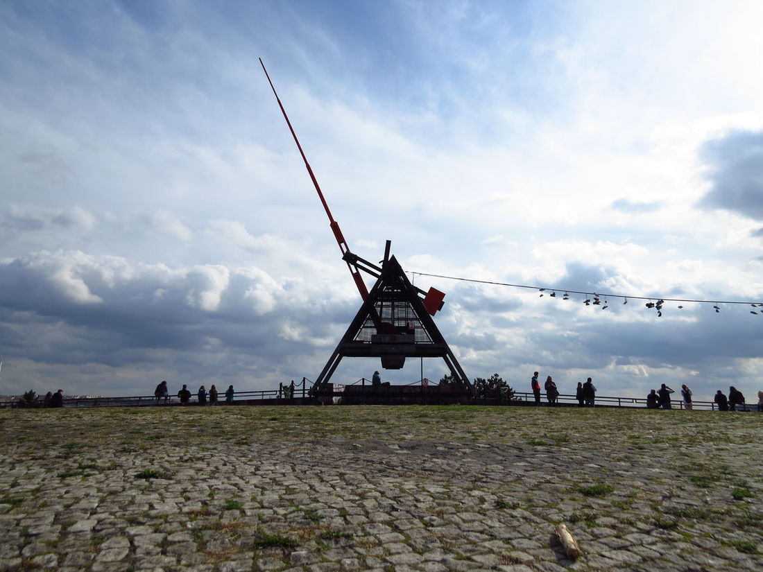 Art Installation Connected By Travel Gathering Prague Prague Czech Republic Sights & Views  Sightseeing Sky And Clouds Skyline Statue Tourist Attraction  View Landmark Landscape Metronome Monument Places To Visit Places You Must To See Prospect Sculpture Sky Tourist Destination Visiting Prague Wind Power Windmill