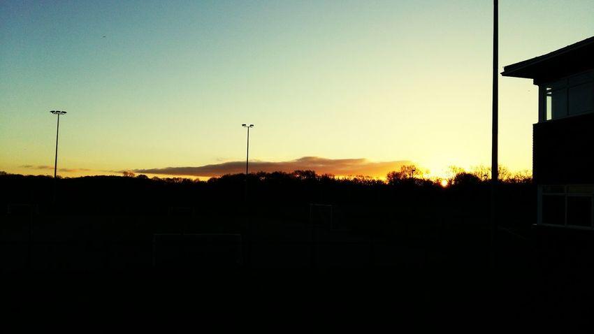 Blue Sky Silouette Clouds And Sky Sunrise