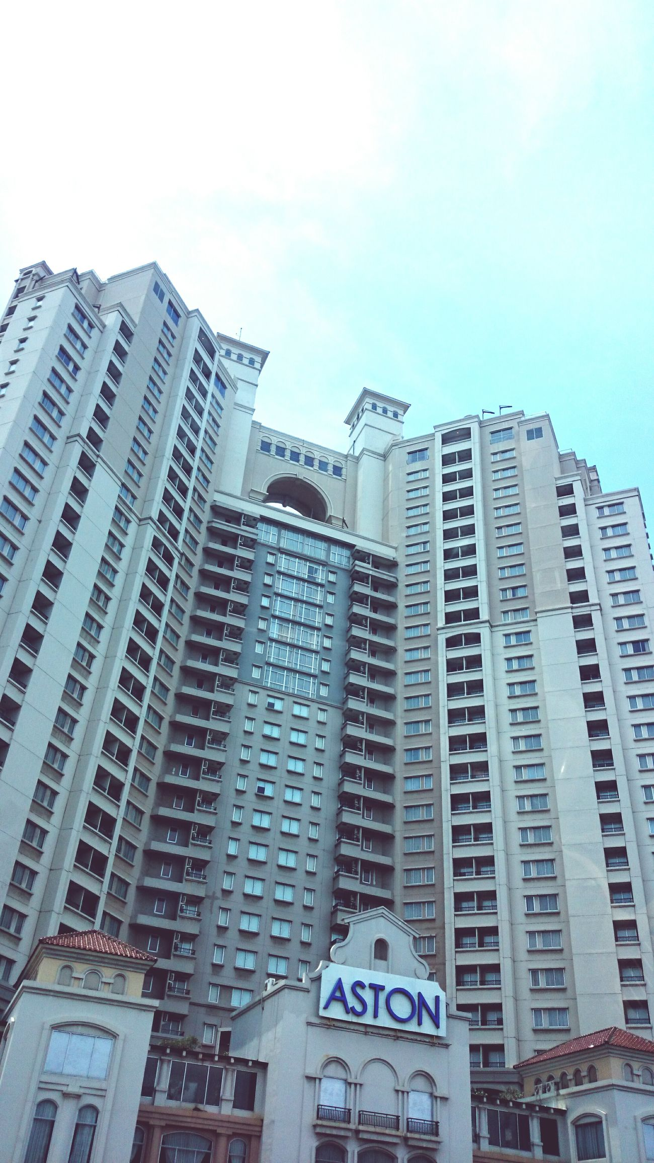 Highrise Building Tower Day Architecture Aston Exterior Jakarta Indonesia