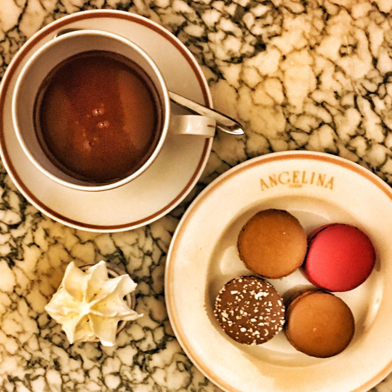 Angelina Hotchocolate Macarons Paris Check This Out Taking Photos Food Food Porn Posh
