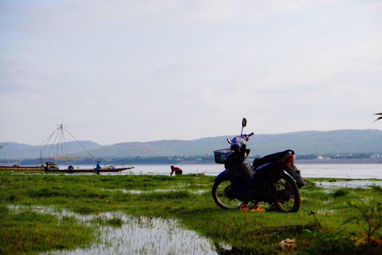Real People Sky Water Nature Men River Life Traditional Outdoors Mountain Sonyalpha Sony A6000 EyeEmNewHere Transportation Day Slow Living Sunset Motorcycle Fishing