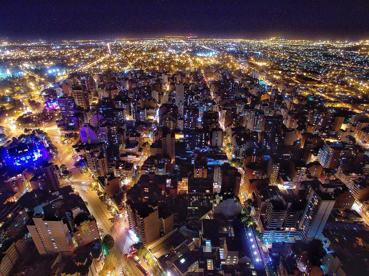 Night Illuminated Cityscape Architecture City Building Exterior Aerial View Built Structure Outdoors Sky Travel Destinations No People Community Nightlife Modern Skyscraper Urban Skyline EyeEm Selects